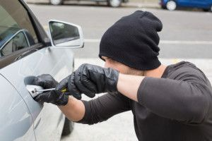 A man committing car theft in New Jersey.