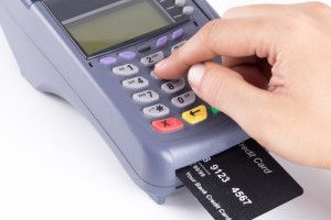 A person using a stolen debit card