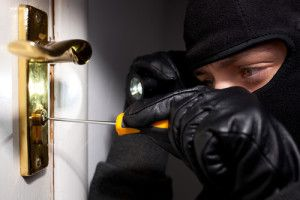 A man breaking into a home in New Jersey.