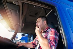 Fatigued truck driver in Columbia, SC