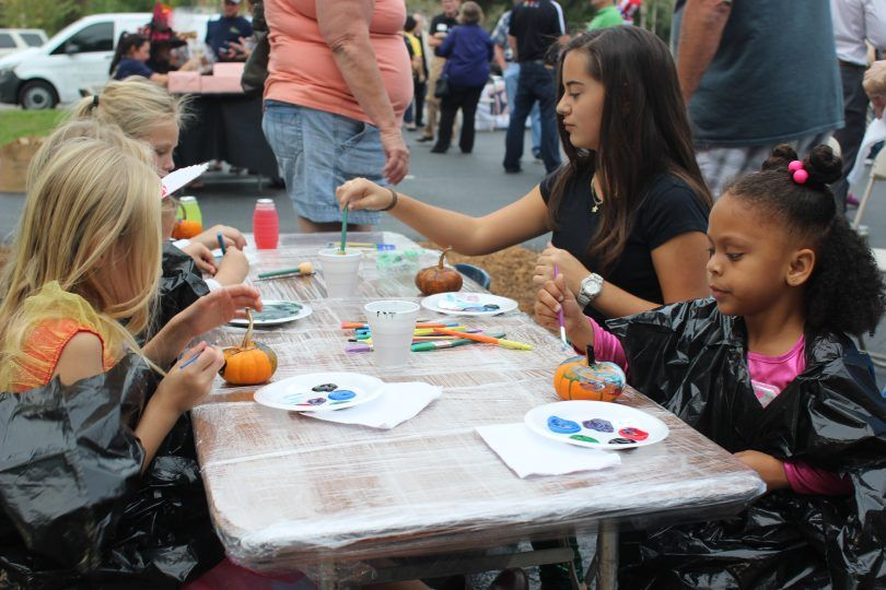 Kids activities at Halloween Bash 2016 - Brooks Law Group
