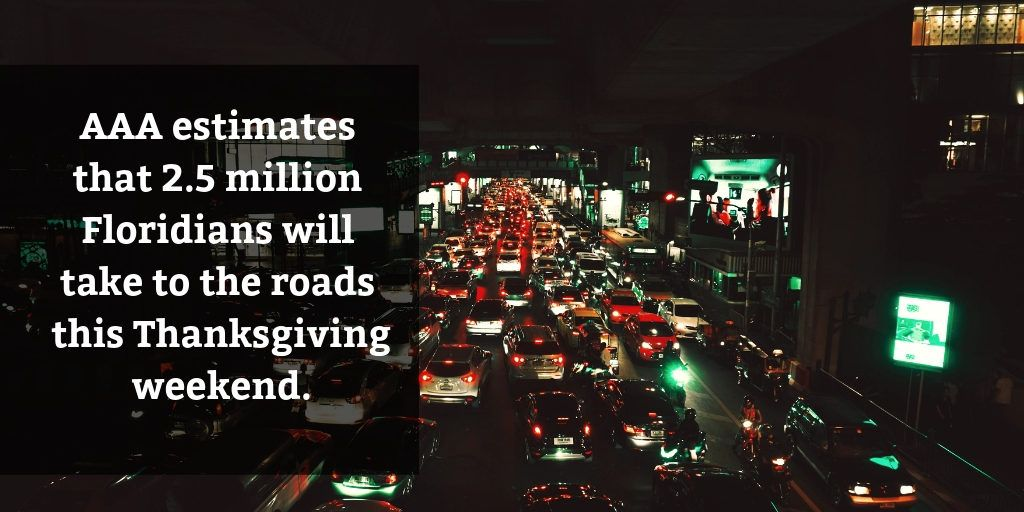 2.5 Million Florida Drivers, Thanksgiving - Brooks Law Group