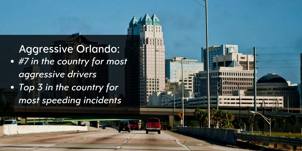 Orlando Placed High for Aggressive Drivers and Speeding Incidents - Brooks Law Group