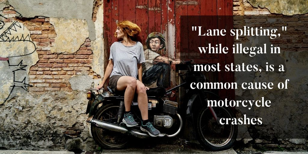 lane splitting is a common cause of motorcycle crashes - Brooks Law Group