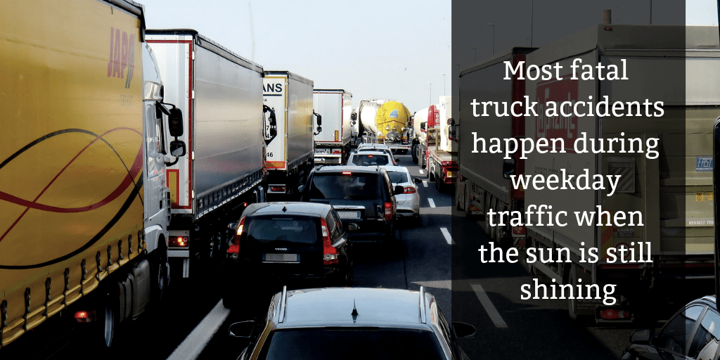 Most fatal truck crashes happen during the weekdays - Brooks Law Group