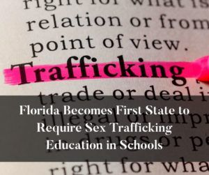 Our state is in the top 3 for states most affected by trafficking