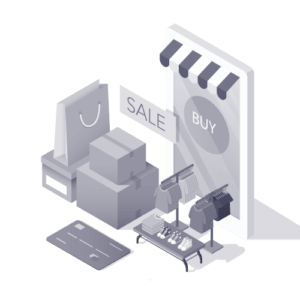 Illustration of items for sale for an ecommerce website