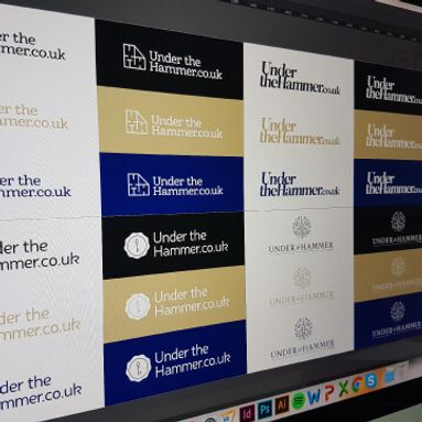 Logo concepts for the under the hammer logo design