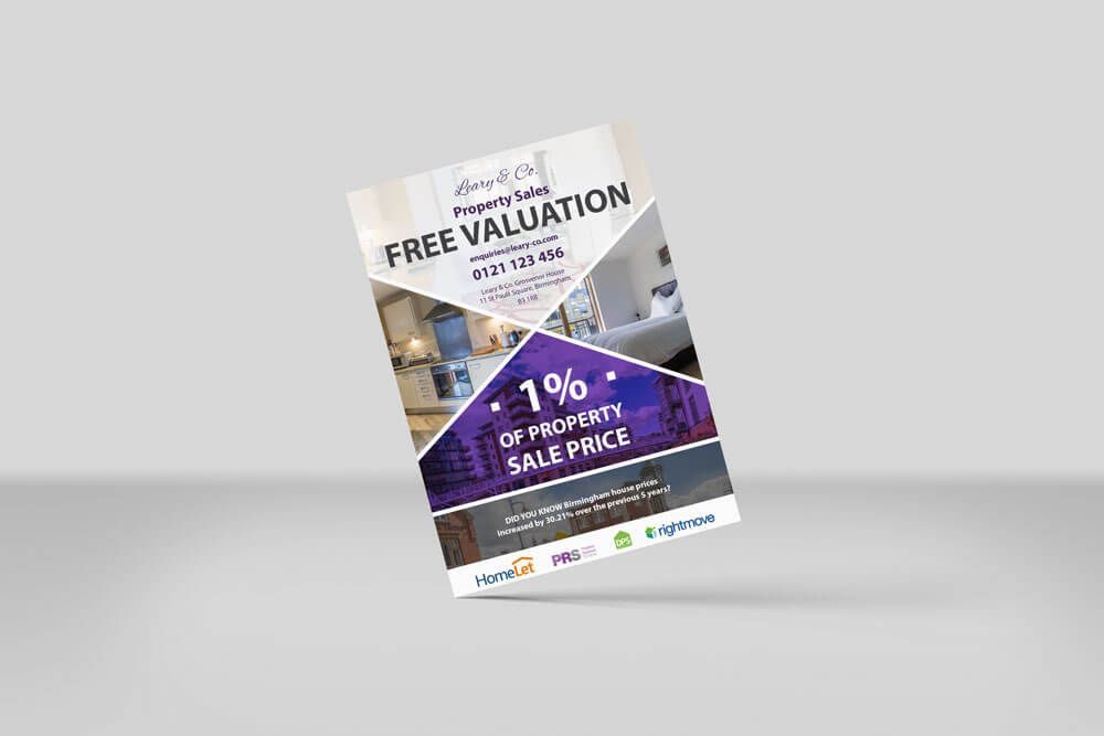 letting agents flyer design