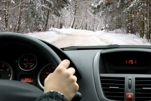 winter driving image