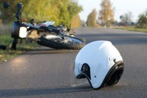 A hit and run motorcycle accident