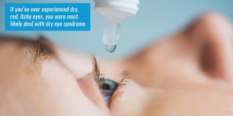 If you've ever experienced dry, red, itchy eyes, you were most likely dealing with dry eye syndrome.