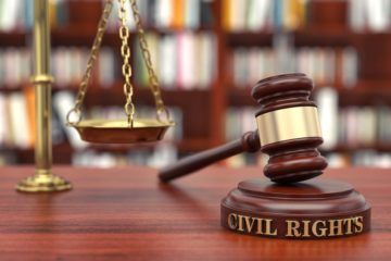 judge gavel civil rights with scale