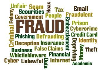 Fraud false claims word cloud