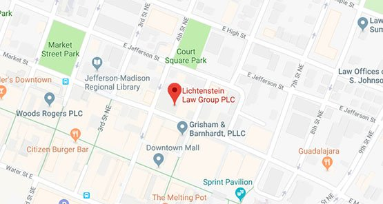 Lichtenstein Law Group PLC Charlottesville, Virginia Office Map
