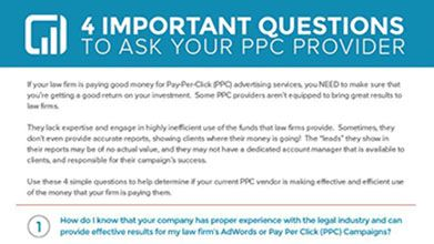 4 important questions to ask your ppc provider