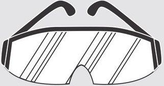 Illustration of safety glasses.