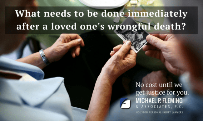 Houston wrongful death law firm question.
