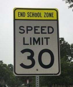Speed limit sign on Texas road.