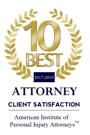 10 Best attorney client satisfaction award   The Law Offices of Hilda Sibrian
