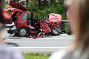 Fatal car accident on the highway.