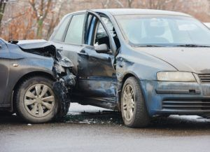 Distracted driver causing car accident in Fort Rucker, AL.