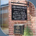 Land Parker and Welch Building Sign