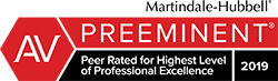 martindale-hubbell av preeminent peer rated for highest level of professional excellence 2019