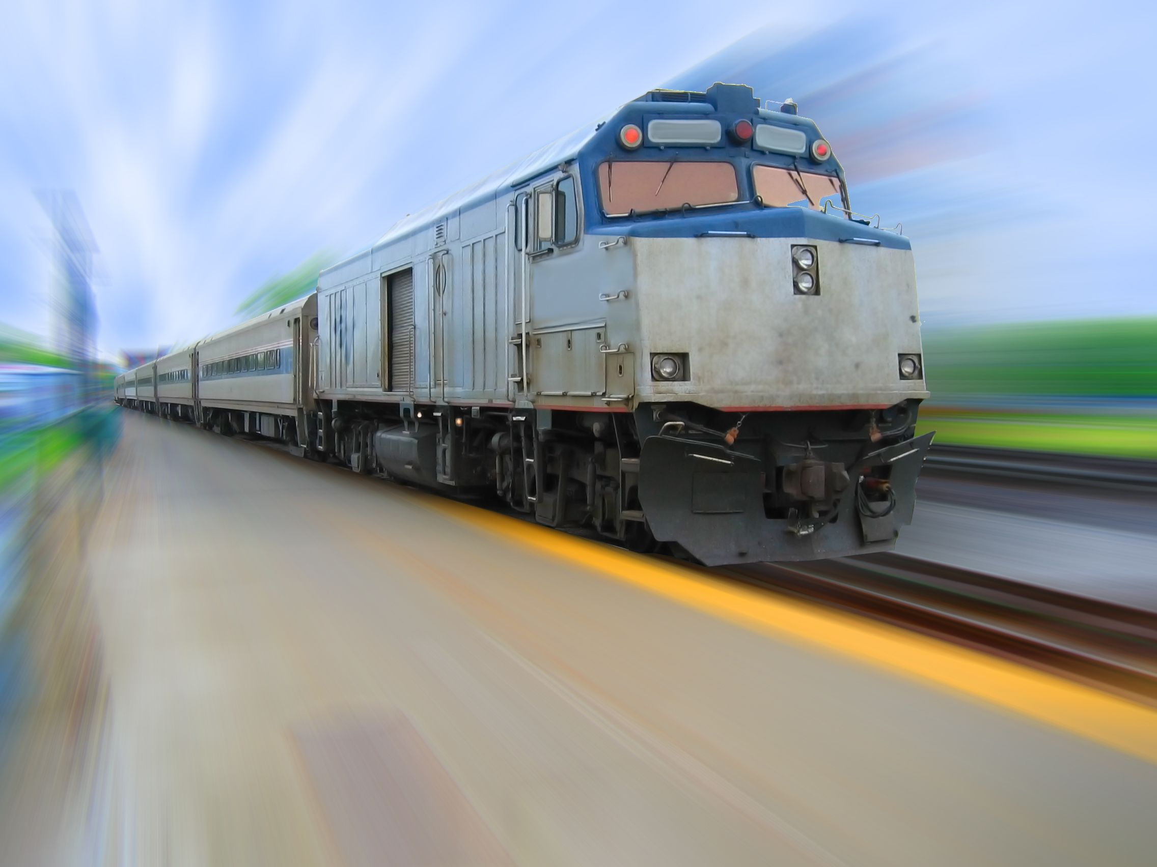 Speeding amtrak train