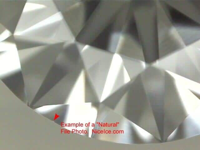 Diamond inclusion natural.