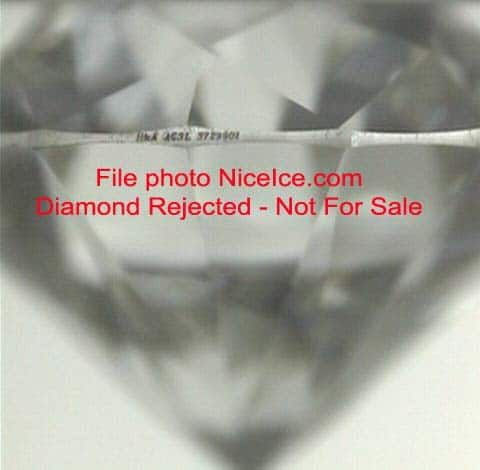 Bruted girdle edge diamond.