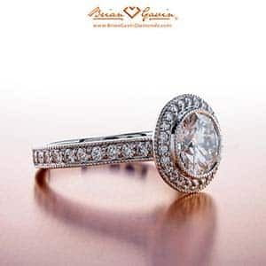 Buying an engagement ring, Brian Gavin milgrain halo setting review