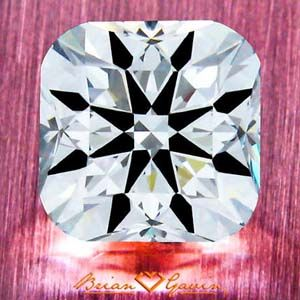 Brian Gavin Signature Cushion Cut Diamond with Hearts & Arrows, AGS #104065157004