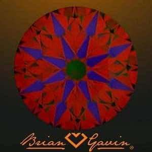 ASET image for Brian Gavin Signature Diamond with Hearts & Arrows pattern