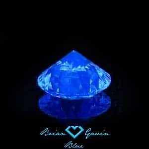 Diamond with medium blue fluorescence from Brian Gavin Blue collection, AGS 104055121006