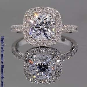 Park Avenue Halo Engagement Ring from High Performance Diamonds