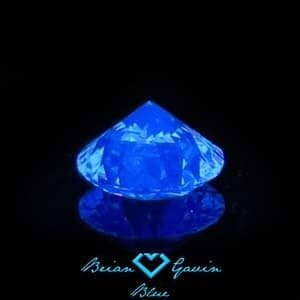 Brian Gavin Diamond with medium blue fluorescence, AGSL 104055121006