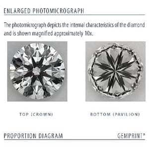 Clarity image for Blue Nile Signature Diamond LD03765094