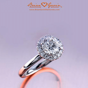 Allie halo set diamond engagement ring from Brian Gavin