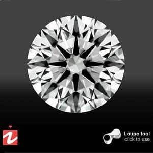 Clarity photograph of Crafted by Infinity diamond AGSL 0010236402 from High Performance Diamonds