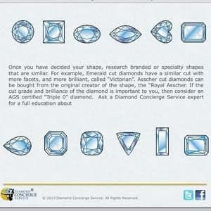 Diamond Concierge Service e-book, incorrect use of diamond terminology