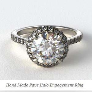 Halo style engagement ring from James Allen, SKU 22654