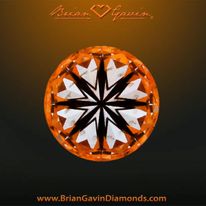 Hearts pattern within Brian Gavin Signature Hearts and Arrows Diamond, AGSL 104064814007