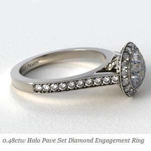 James Allen Halo style engagement ring reviews, SKU 63074