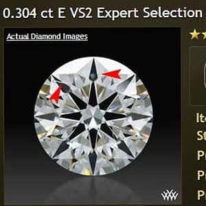 Clarity photograph, Whiteflash Expert Selection diamond review, AGS 104060182069