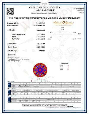 Reviews Brian Gavin Signature round diamonds, AGSL 104072303015