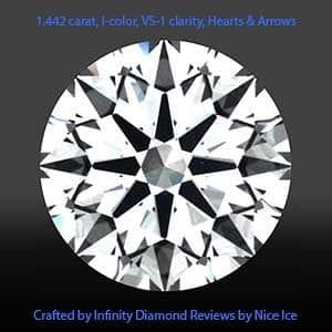Crafted by Infinity diamond reviews, AGS 104074746021, Clarity Photograph