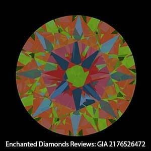 Enchanted Diamonds reviews, GIA Excellent cut 2176526472, ASET Scope image