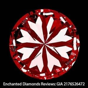 Enchanted Diamonds reviews, GIA Excellent cut 2176526472, hearts scope image