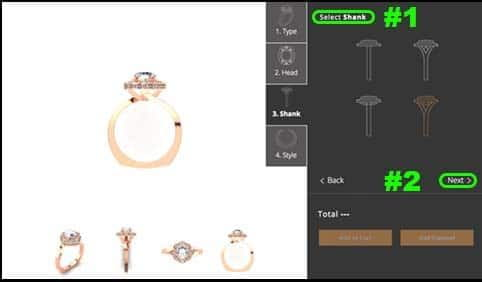 Step 3 Create your own ring design online 810 Collection by Brian Gavin